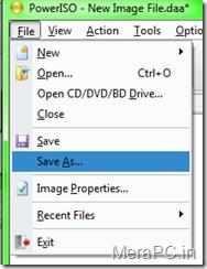 Saving the bootable Image