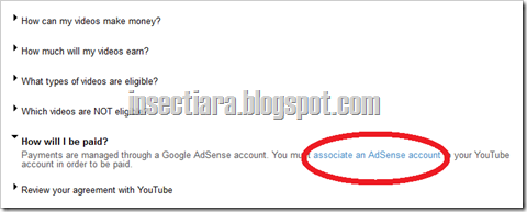 associate an Adsense account