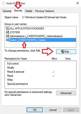Cách lưu file hosts khi bị lỗi
