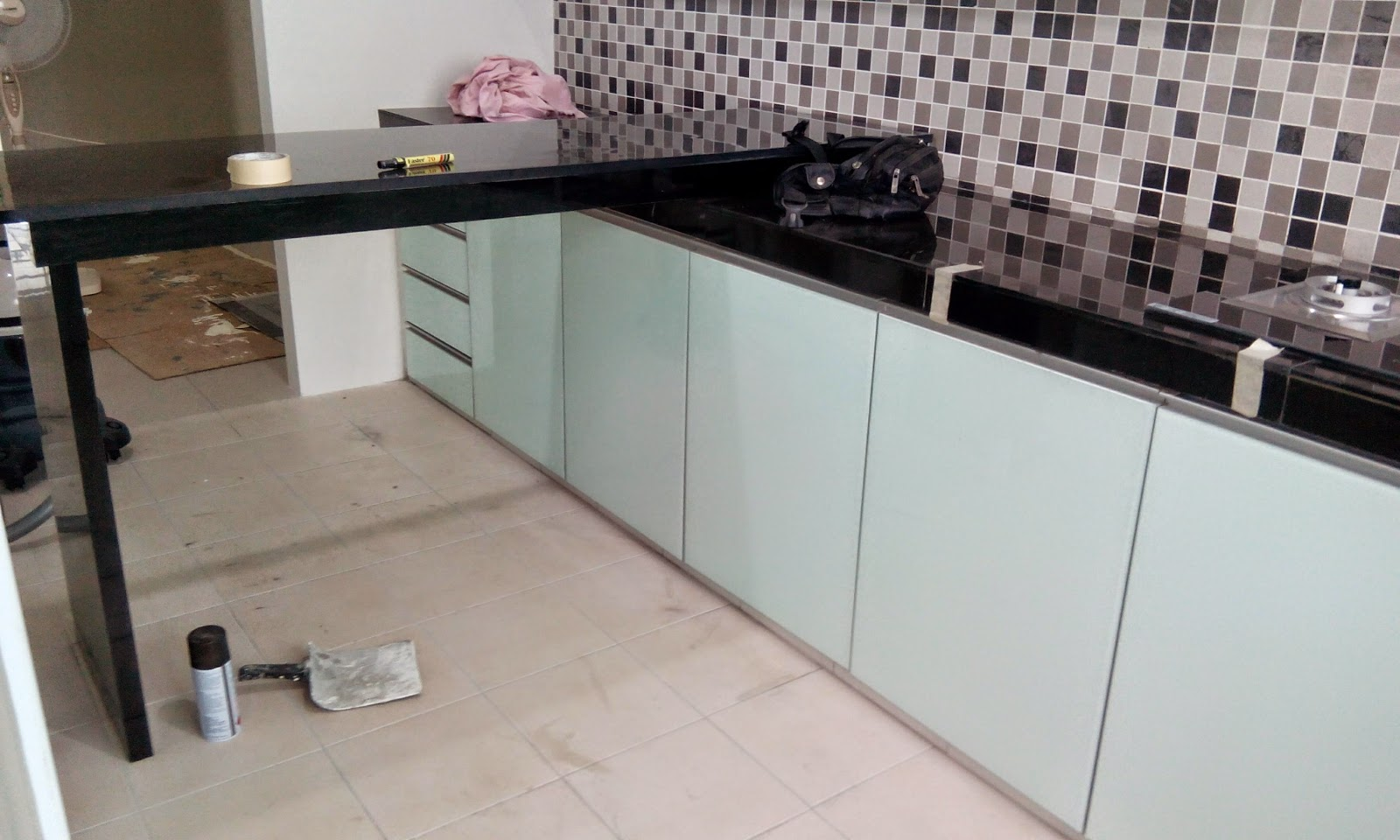 Jenis Table Top Kabinet Dapur Desainrumahid Warna Mozek