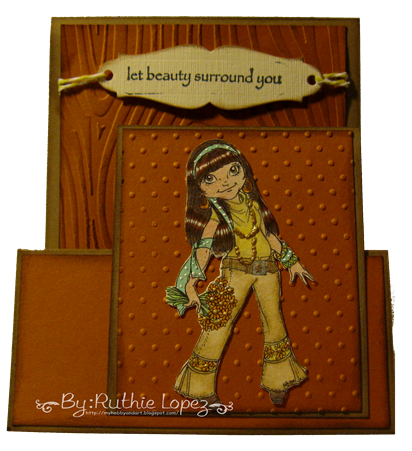 Rick St. Dennis - Joanie the Flower Child - 613 Create Avenue - Tent fold card 3