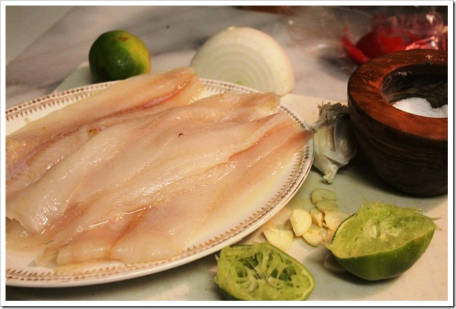 Filetes de Pescado con Salsa Mexicana | Ingredients