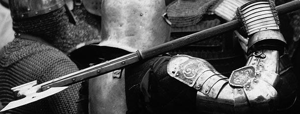 Machado de guerra medieval.