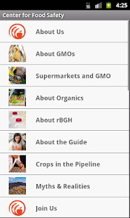 Center for Food Safety- screenshot thumbnail