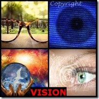 VISION- 4 Pics 1 Word Answers 3 Letters