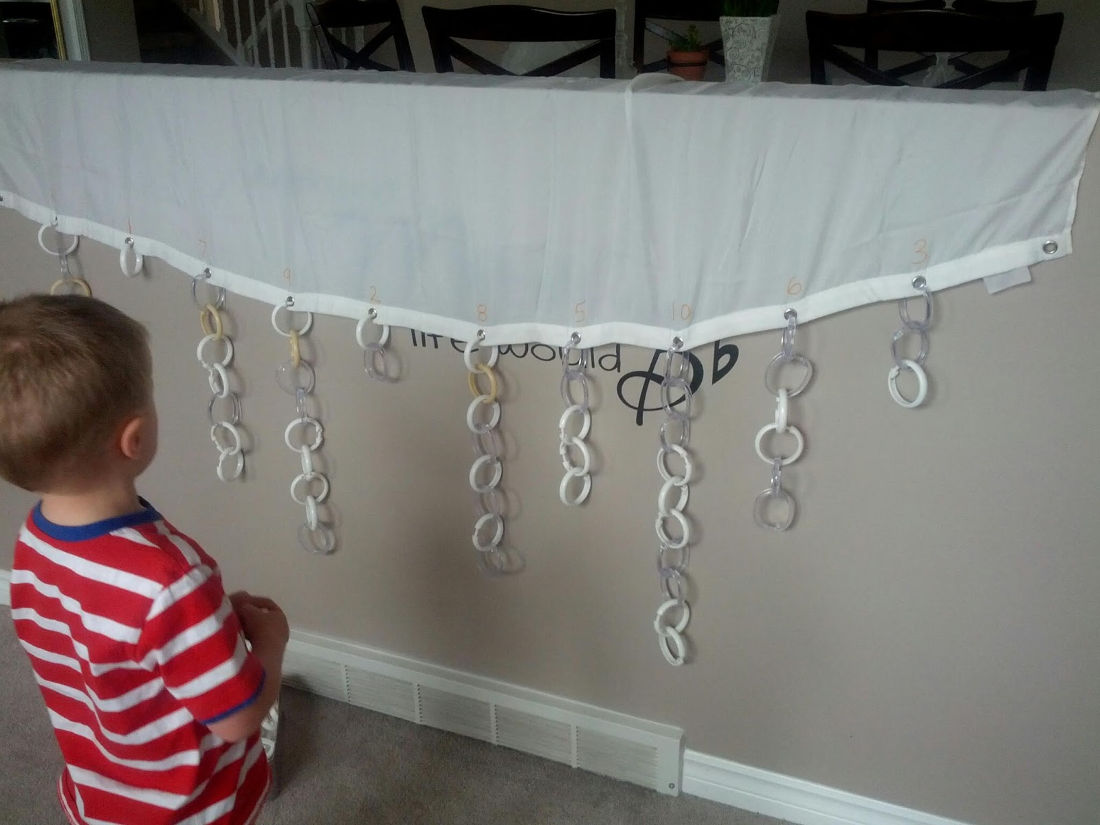 Shower Curtain Ring Counting And Next Comes L