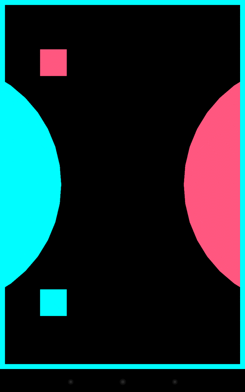 Colour zen review - Still Simple When You Move The Pink Square To The Pink Circle It Fills The Background With Pink But The Blue Shapes Are Still There