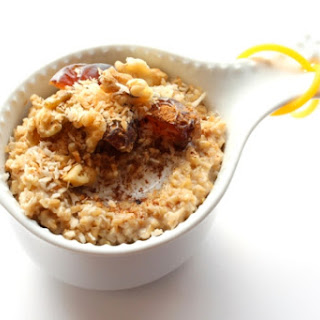 Steel Cut Oats with Medjool Dates & Toasted Coconut (Vegan)
