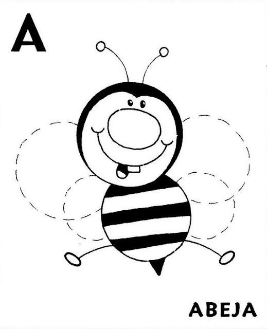 Fichas Con Letras Del Abecedario Y Dibujos Para Preescolar