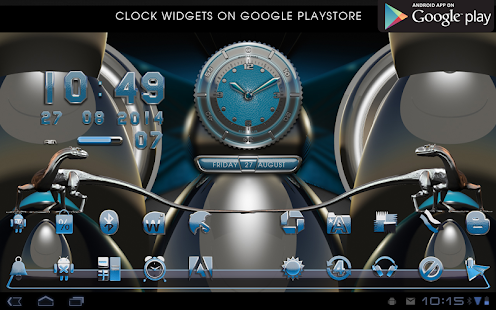 lightblue Next Launcher Theme- screenshot thumbnail