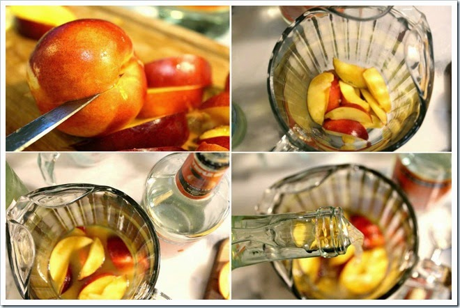 White Moscato And Peach Sangria | Instructions step by step