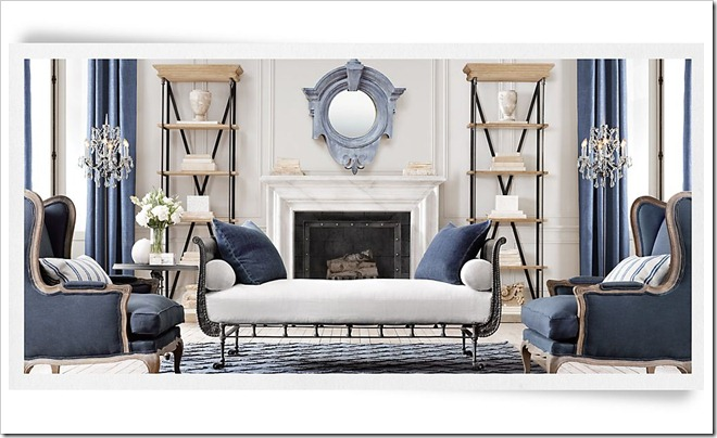 Restoration Hardware Zinc Mirror