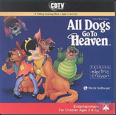 All dogs to heaven coloirung book cdtv