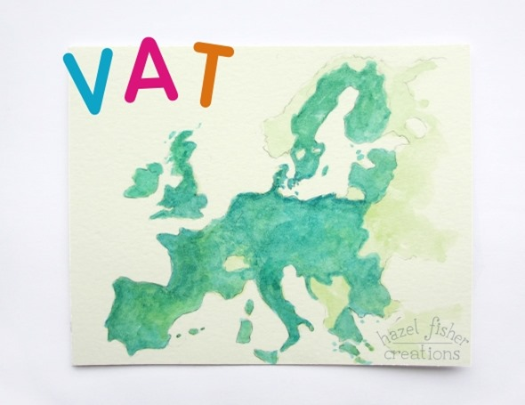 Europe map illustration vat hazel fisher creations 2