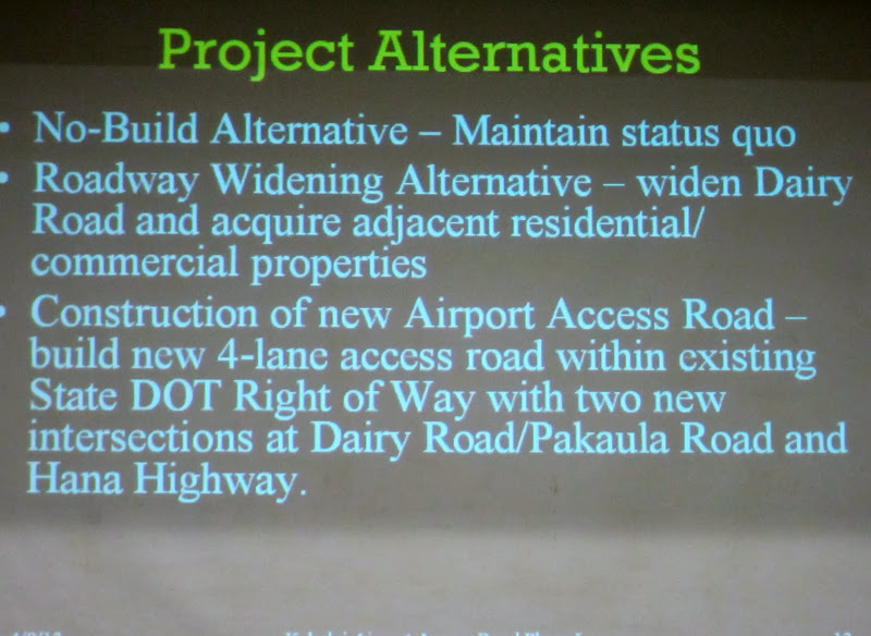 State DOT offers Maui Choices for Airport Access Road