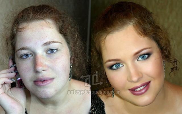 Antes y despues del maquillaje 21