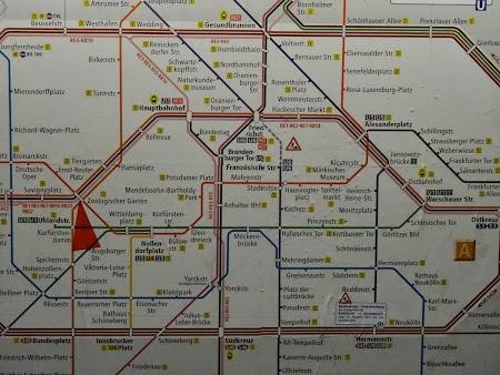 Harta metro Berlin