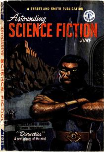 Cover of Astounding Science Fiction magazine, British edition, June 1951 issue.
