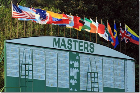 Masters Leaderboard 2011 via Google images