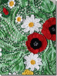 irish crochet poppy top how to 4