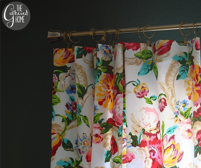 dining room updates floral curtains27