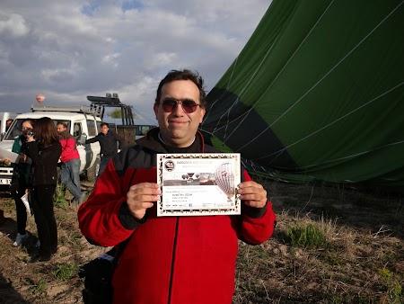 39. Diploma pentru zbor cu balonul in Cappadocia.JPG