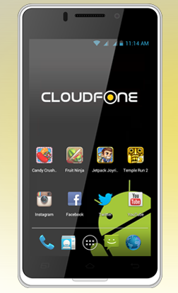 Cloudfone Thrill 450q Android 4.1 Jelly Bean quad-core