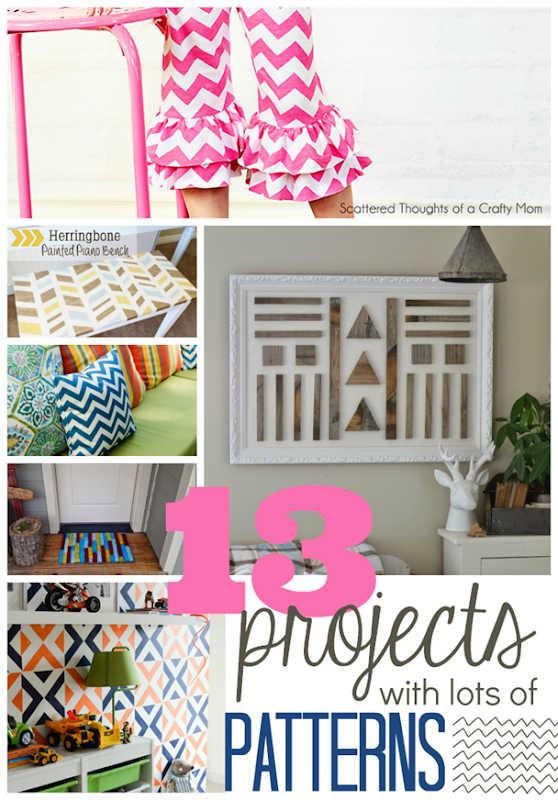 13 Projects with Lots of Patterns at GingerSnapCrafts.com #linkparty #features #pattern