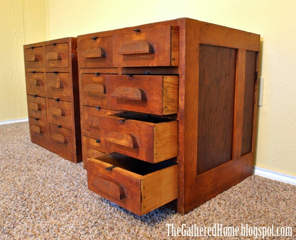 Found Vintage Hardware Store Cabinets The Gathered Home