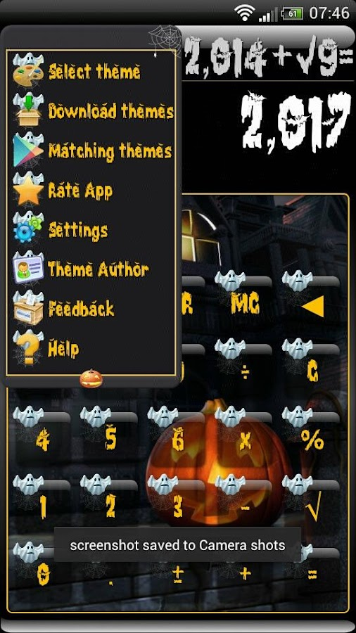 SCalc Halloween Theme- screenshot