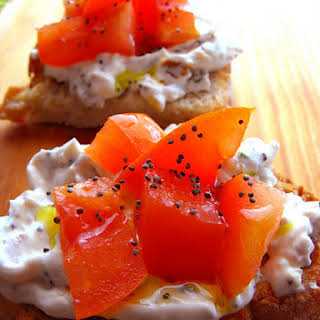 Chives and Onion Cream Cheese Toast.