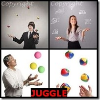 JUGGLE- 4 Pics 1 Word Answers 3 Letters
