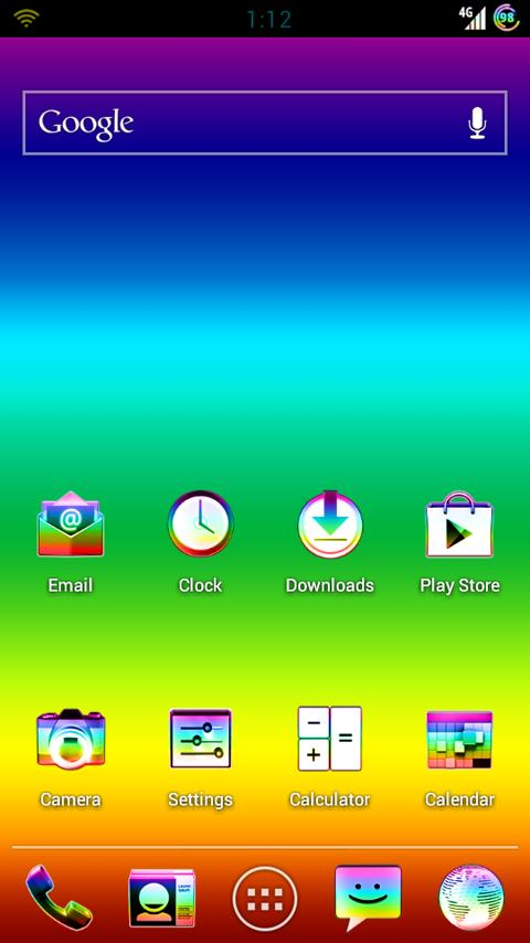 AOKP & CM9 rainBRO .. rainbow- screenshot