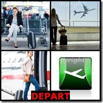DEPART- 4 Pics 1 Word Answers 3 Letters