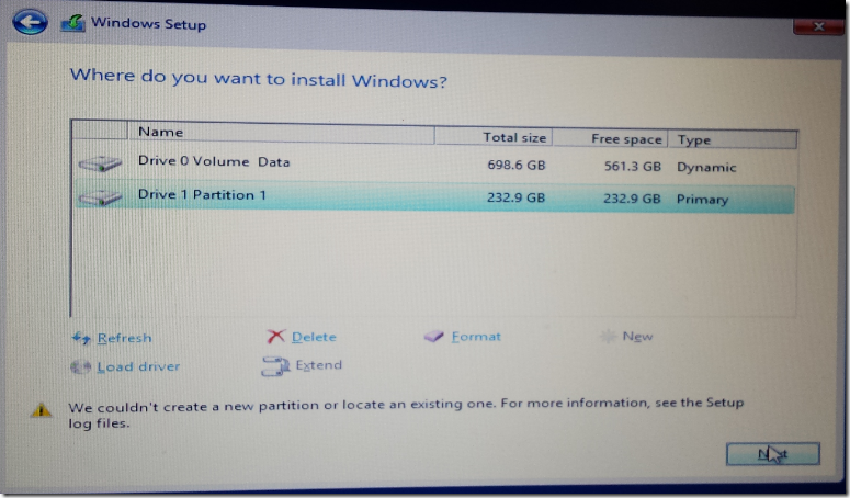 Windows Server 2012 R2 – Couldn't Create A New Partition ~ Santhosh