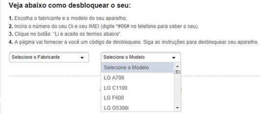 Escolhendo o modelo