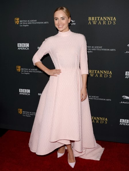 Suki Waterhouse attends the 2013 BAFTA LA Jaguar Britannia Awards