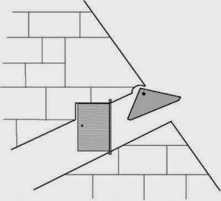 одна из версий поворотного механизма главного входа в   пирамиду хеопса