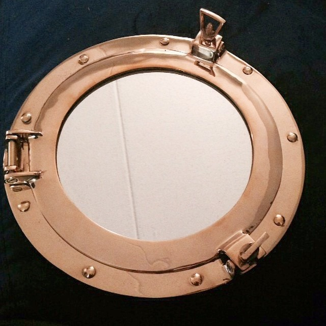 thriftscorethursday stephlovesdesign brass porthole mirror