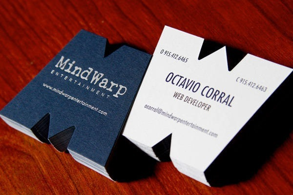 cute shaped business cards