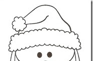 Dibujos Para Colorear De Caras De Santa Claus