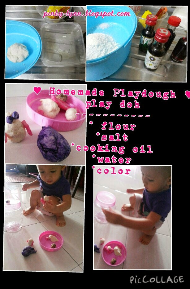 Homemade Playdough (Play-Doh) untuk Dhia Batrisya