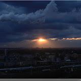 die Sonne geht unter über Berlin