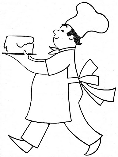 COOK COLORING PAGE CHEF