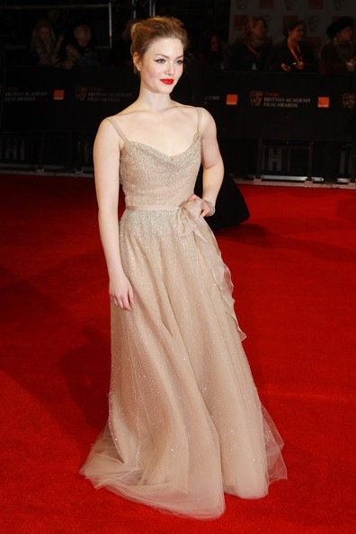 Holliday Grainger attends The Orange British Academy Film Awards 2012