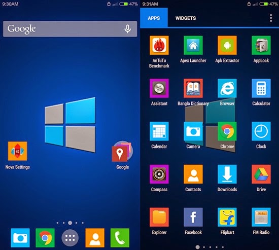 Windows 10 Theme para Android