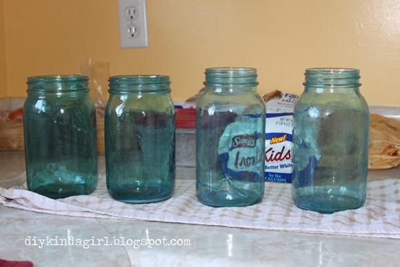 pretty tinted mason jars
