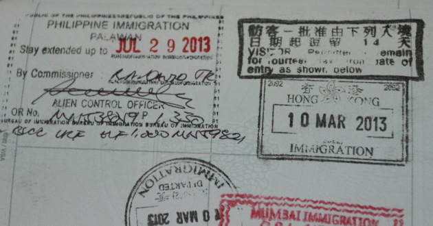 Visa extension at Puerto Princesa, Philippines