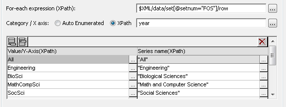 XPath for data selection in the chart settings dialog