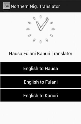 Hausa Fufude Kanuri Dictionary